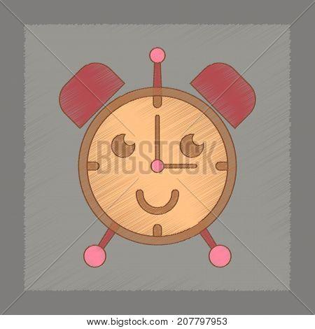 flat shading style icon Kids toy alarm clock
