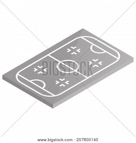 Icon playground ice hockey. Design element of sports objects. Flat 3d isometric style vector illustration.