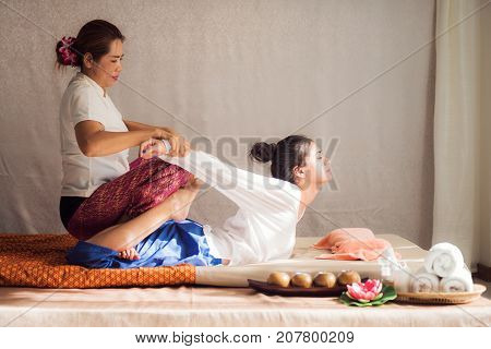 Thai original massage for woman in many spa hotal and resort in Thailand Asia