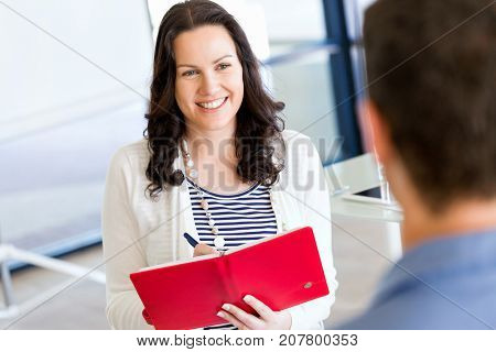 Business people at interview in office