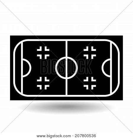 Icon playground ice hockey. Design element of sports objects. Isolated on white background vector illustration.