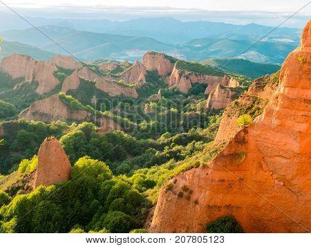View Of Las Medulas Historic Gold Mining Site.