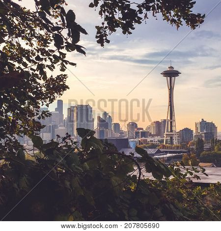 Space Needle In Seattle, Wa, Usa