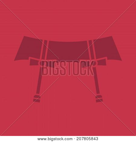 Underwear garters glyph color icon. Silhouette symbol. Negative space. Vector isolated illustration