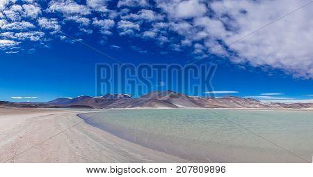 View on Lagoon Salar de talar by San Pedro de Atacama in Chile