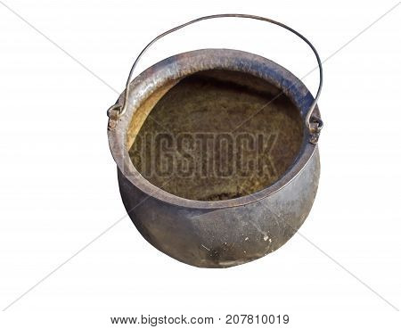 the smoked tourist kettle over white background