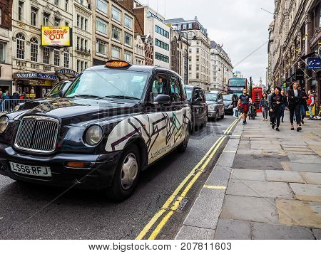 Taxi Cab In London, Hdr