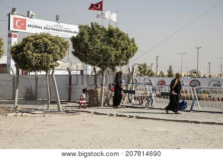 Refugee Camp For Syrian People In Turkey. September 6, 2017. Akcakale, Turkey