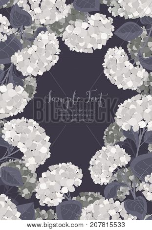 Vector illustration of hydrangea flower Background with flowers