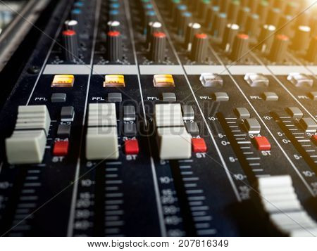 Sound mixer control panel buttons equipment for sound mixer control