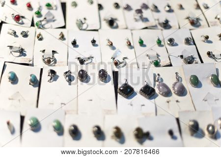 Exhibition Of Products From Precious Stones