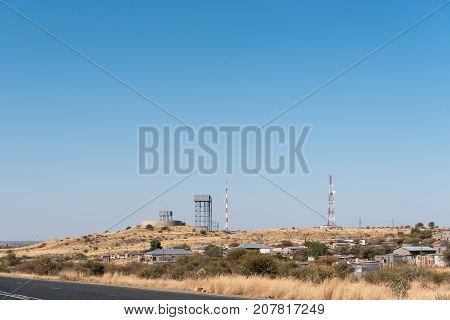 BARKLY WEST SOUTH AFRICA - JULY 7 2017: A view of Barkly West a town in the Northern Cape Province of South Africa