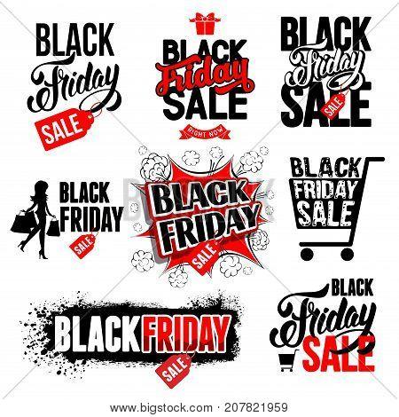 Black Friday Sale Labels Set