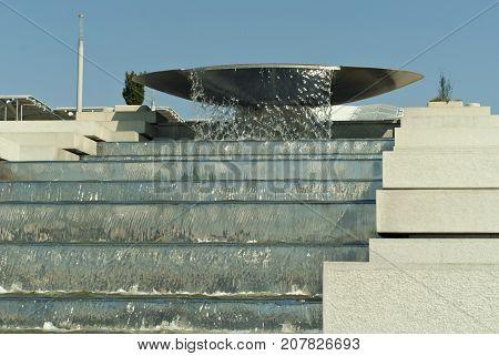 RUSSIA SOCHY - SEPTEMBER 20 2017: fountain