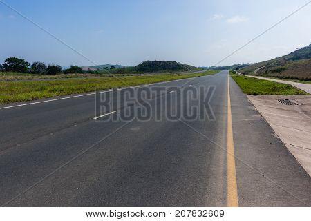 Road Highway Empty Landscape