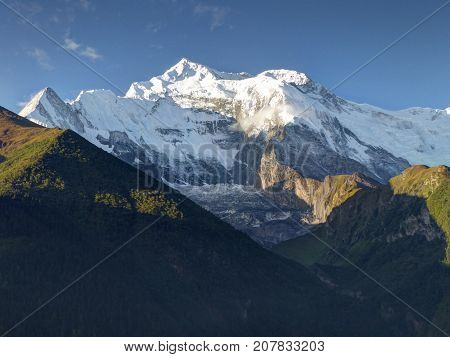 Morning View Of Annapurna In Upper Pisang