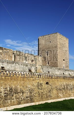 Norman-Hohenstaufen Castle, or Castello Svevo Castle, or Swabian Castle, Bari, Italy,