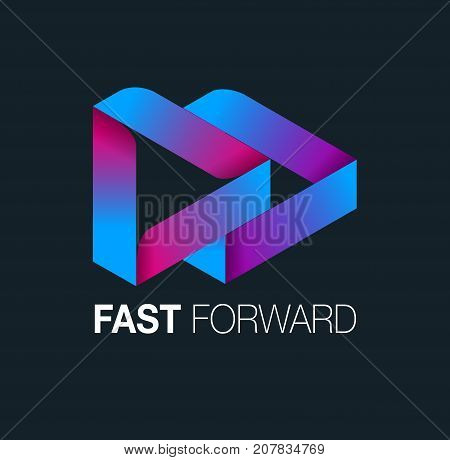Vector abstract, fast forward symbol or icon
