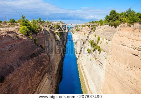 Corinth Canal In Greece