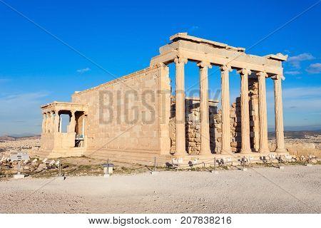 Erechtheum Temple In Athens
