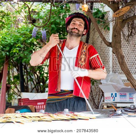 Traditional Turkish Ice Cream Makers In Sirince