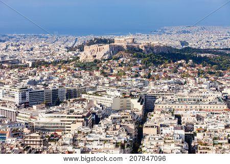 Athenian Acropolis In Greece