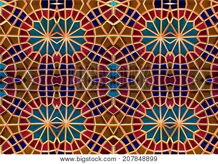 Eastern mosaic.  Patterns and ornaments.  mosaic art