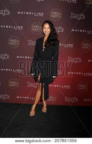 LOS ANGELES - OCT 4:  Karrueche Tran at the 2017 People's Ones To Watch at the NeueHouse Hollywood on October 4, 2017 in Los Angeles, CA