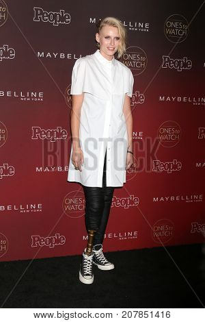 LOS ANGELES - OCT 4:  Lauren Wasser at the 2017 People's Ones To Watch at the NeueHouse Hollywood on October 4, 2017 in Los Angeles, CA