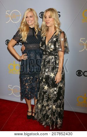 LOS ANGELES - OCT 4:  Beth Behrs, Kaley Cuoco at the Carol Burnett 50th Anniversary Special Arrivals at the CBS Television City on October 4, 2017 in Los Angeles, CA