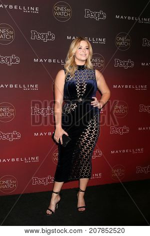 LOS ANGELES - OCT 4:  Sasha Pieterse at the 2017 People's Ones To Watch at the NeueHouse Hollywood on October 4, 2017 in Los Angeles, CA