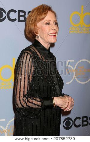 LOS ANGELES - OCT 4:  Carol Burnett at the Carol Burnett 50th Anniversary Special Arrivals at the CBS Television City on October 4, 2017 in Los Angeles, CA