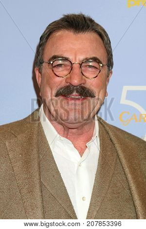 LOS ANGELES - OCT 4:  Tom Selleck_ at the Carol Burnett 50th Anniversary Special Arrivals at the CBS Television City on October 4, 2017 in Los Angeles, CA