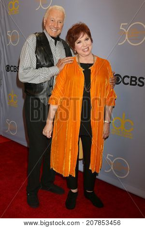 LOS ANGELES - OCT 4:  Lyle Waggoner, Vicki Lawrence at the Carol Burnett 50th Anniversary Special Arrivals at the CBS Television City on October 4, 2017 in Los Angeles, CA