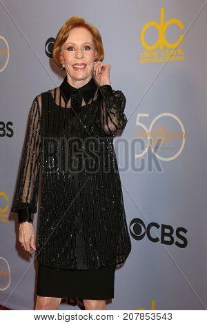 LOS ANGELES - OCT 4:  Carol Burnett_ at the Carol Burnett 50th Anniversary Special Arrivals at the CBS Television City on October 4, 2017 in Los Angeles, CA