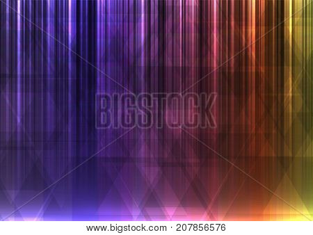 rainbow abstract triangle and bar overlap background, geometric digital colorful color template, vector illustration