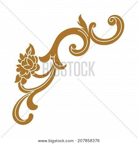 Golden vintage ornament, baroque ornament, scroll ornament, engraving ornament, border ornament, floral ornament, retro pattern, antique pattern, style acanthus pattern, foliage pattern, swirl pattern decorative pattern, filigree pattern. vector