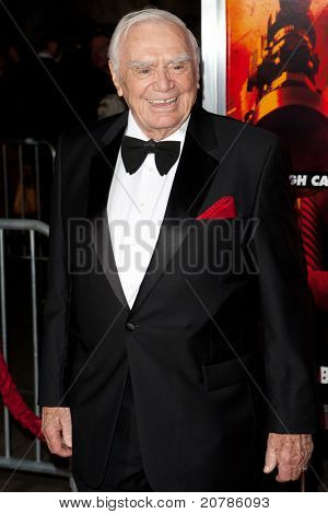 HOLLYWOOD, CA. - OCT 11: Ernest Borgnine arrives at the Los Angeles special screening of Red at Grauman's Chinese Theatre on Oct. 11, 2010 in Hollywood, California.