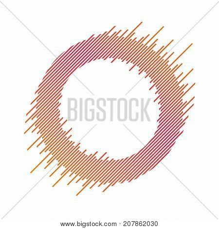 Abstract circle with dynamic lines. Abstract background with circle in colorful blend. Dynamic banner frame design element for decoration. Vector