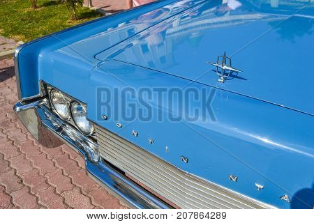 ESSENTUKI RUSSIA - JULY 28 2012: Exhibition of old cars in ESSENTUKI RUSSIA Car CONTINENTAL