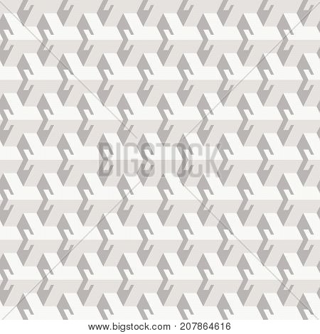 Abstract seamless pattern in isometric style. Three-dimensional elements. Light and shadow.