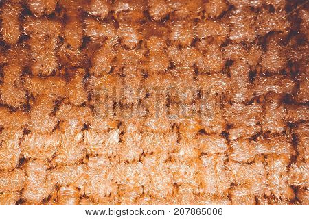 Textured Background Of Beautiful Fabric On The Photo.