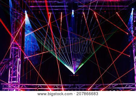 Laser light show on the club stage.