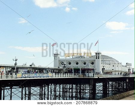 Brighton: July 17,  The famous Victorian pier and amusements  at Brighton, on England's south coast, Brighton, July 17, 2017