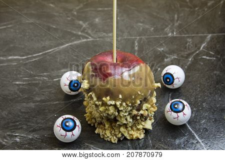 Caramel Apple With Eyeballs