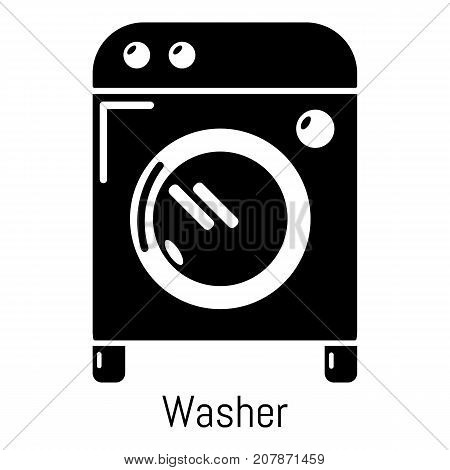 Washer icon. Simple illustration of washer vector icon for web
