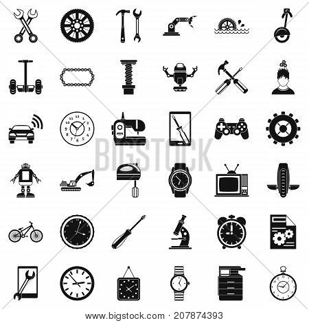 Auto repair icons set. Simple style of 36 auto repair vector icons for web isolated on white background