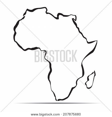 Map Of Africa Outline.Outline Map Africa Vector Photo Free Trial Bigstock