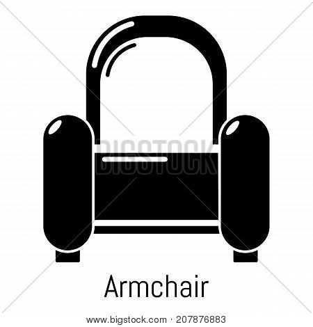 Armchair icon. Simple illustration of armchair vector icon for web