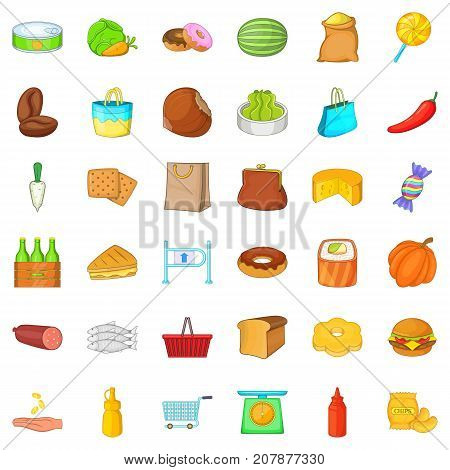 Barrier icons set. Cartoon style of 36 barrier vector icons for web isolated on white background